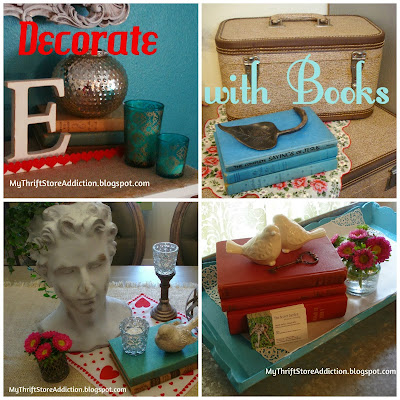 Vintage books as decor