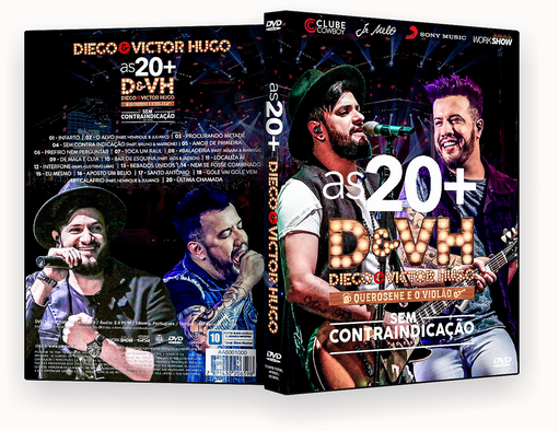 CAPA DVD – As 20 Diego E Victor Hugo DVD-R