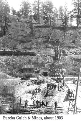 The mines in Eureka, aka Republic, Washington