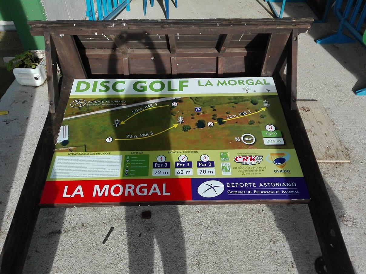 Disc golf club oviedo for Piscinas la morgal