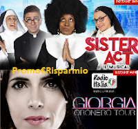 Logo Vinci gratis biglietti ''Sister Act'' o concerto Giorgia Oronero Tour