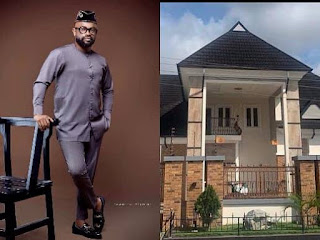 GX GOSSIP: Actor Bishop Umoh popularly known as 'Okon Lagos' show off his new house