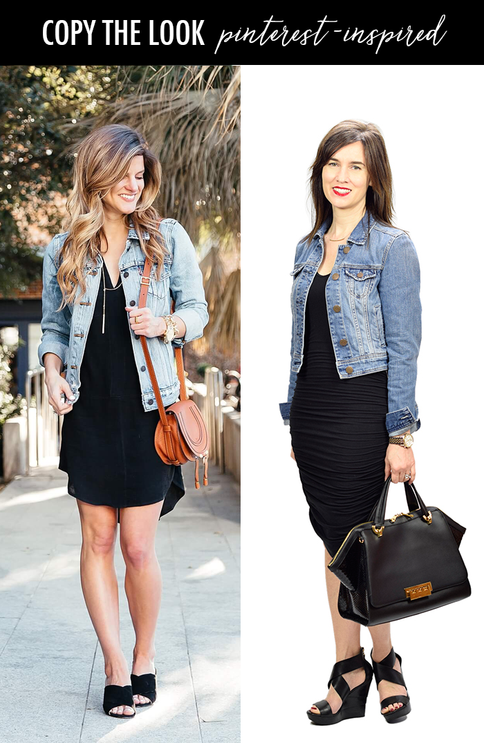 Pinterest Inspired Little Black Dress Denim Jacket