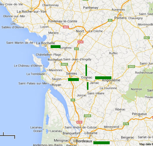 Cognac Region Of France Map.Behind The French Menu Cognac The Town And Visiting Cognac And