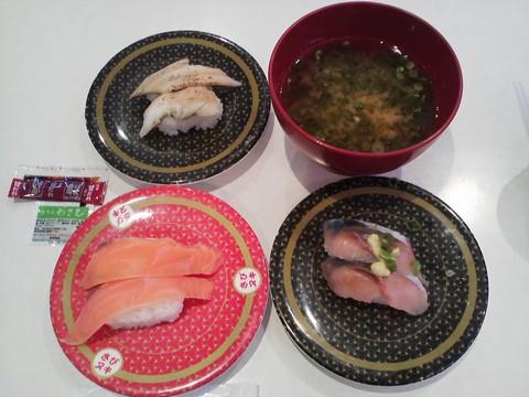寿司3皿2 はま寿司 札幌桑園店