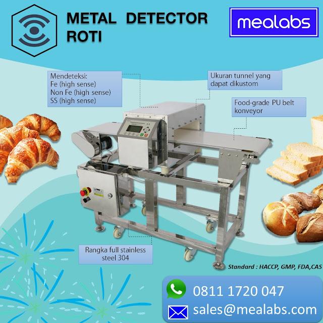 metal detector roti dan bakery