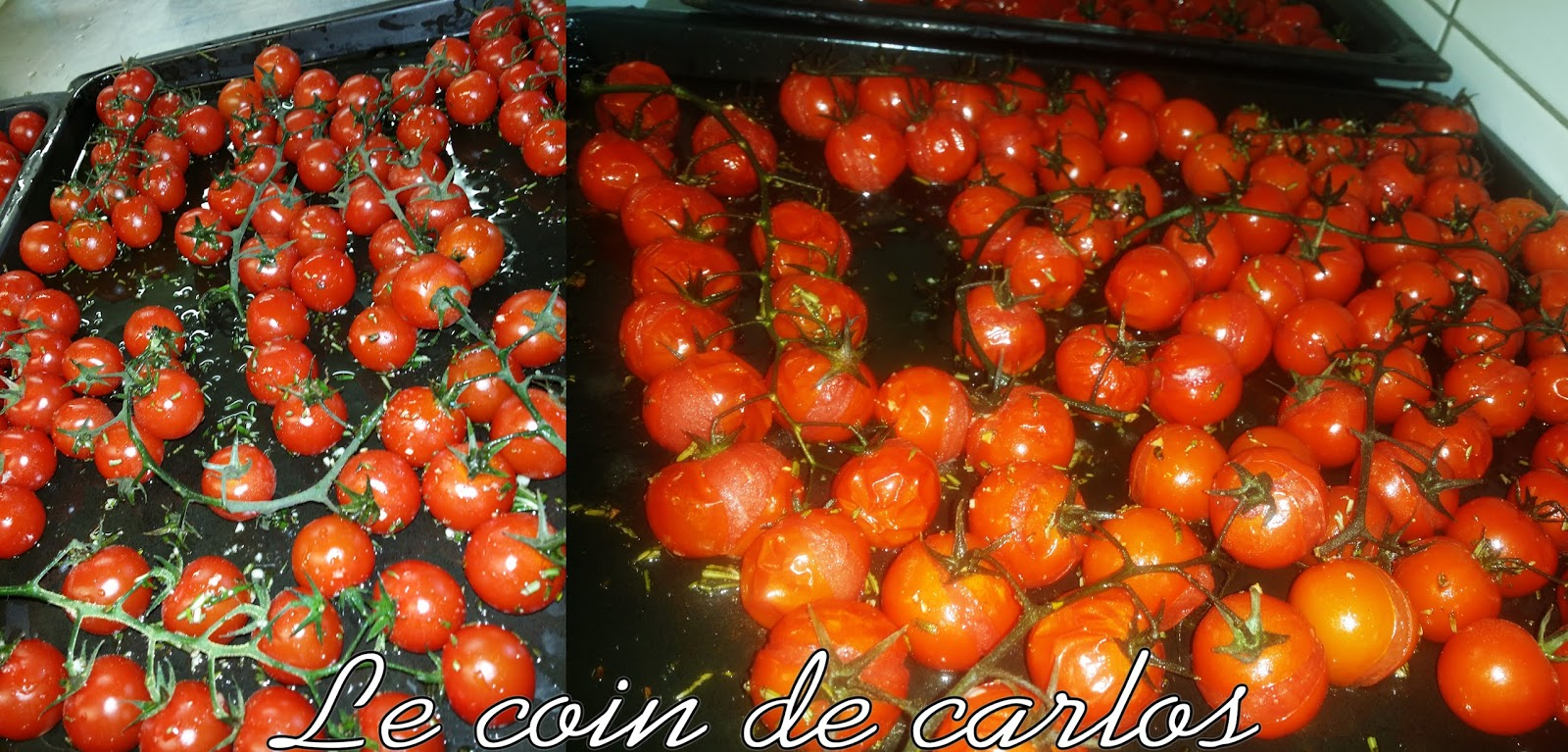 le coin de carlos tomates cerises en grappe au romarin. Black Bedroom Furniture Sets. Home Design Ideas