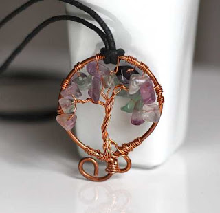 Tree of Life - Fluorite & Copper Necklace