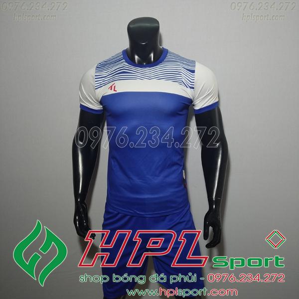 Áo bóng đá không logo TL HML Riyad màu xanh đậm