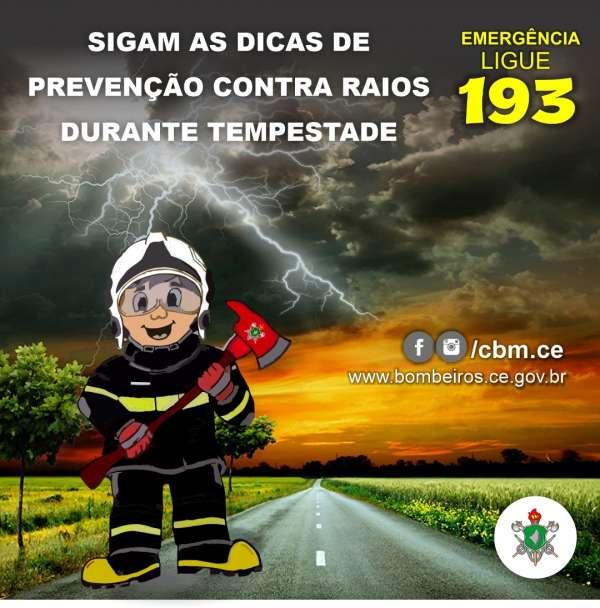 Bombeiros dão dicas de como se prevenir de raios durante tempestade