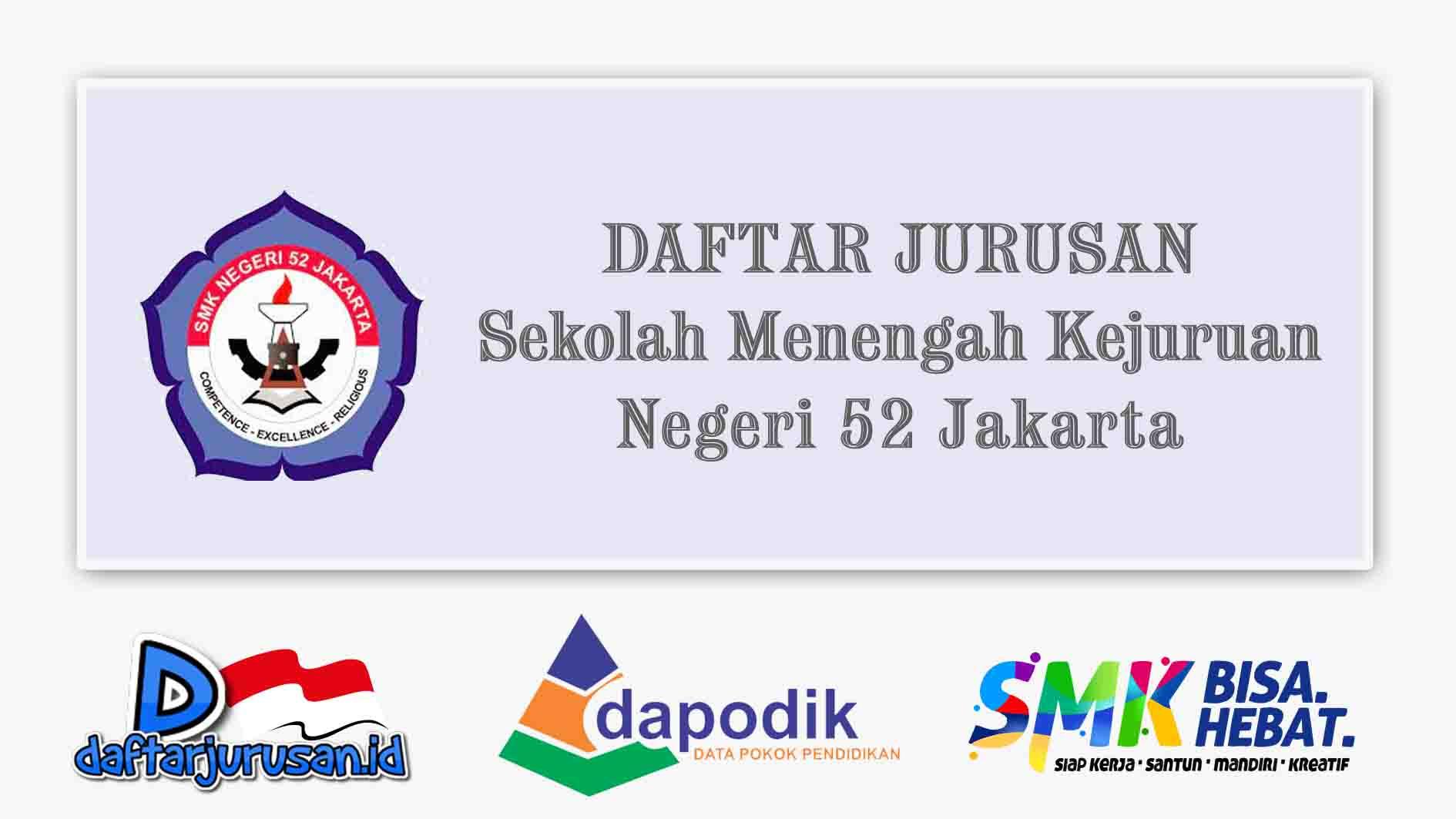 Daftar Jurusan SMK Negeri 52 Jakarta Timur
