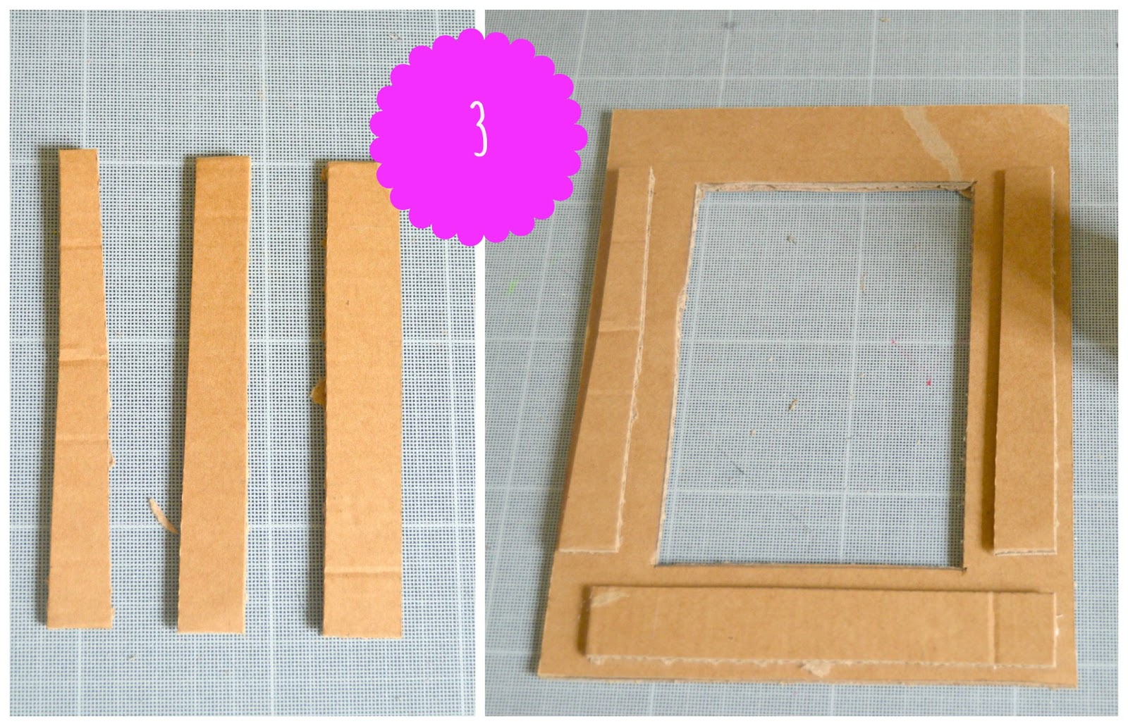 Top Idee per la festa della mamma: la cornice di cartone riciclato VV64