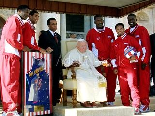 Pope John Paul II and Harlem Globetrotter