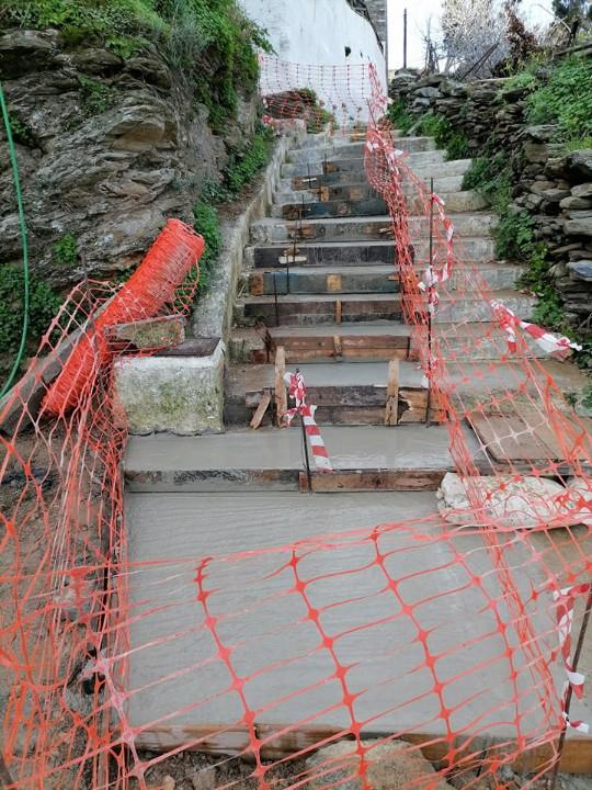 Αποχέτευση Λειβαδίων - σύνδεση με βιολογικό: Έτοιμες οι σκάλες στο Τρίστρατο