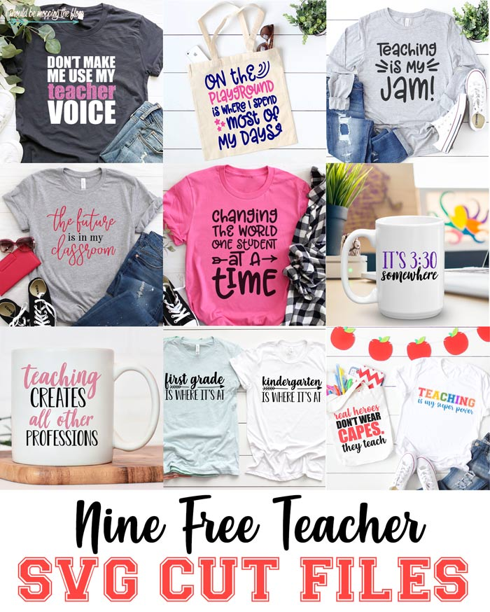 Nine Teacher SVGs