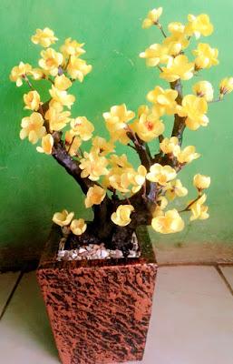 Gambar Bunga Sakura Kuning Plastik