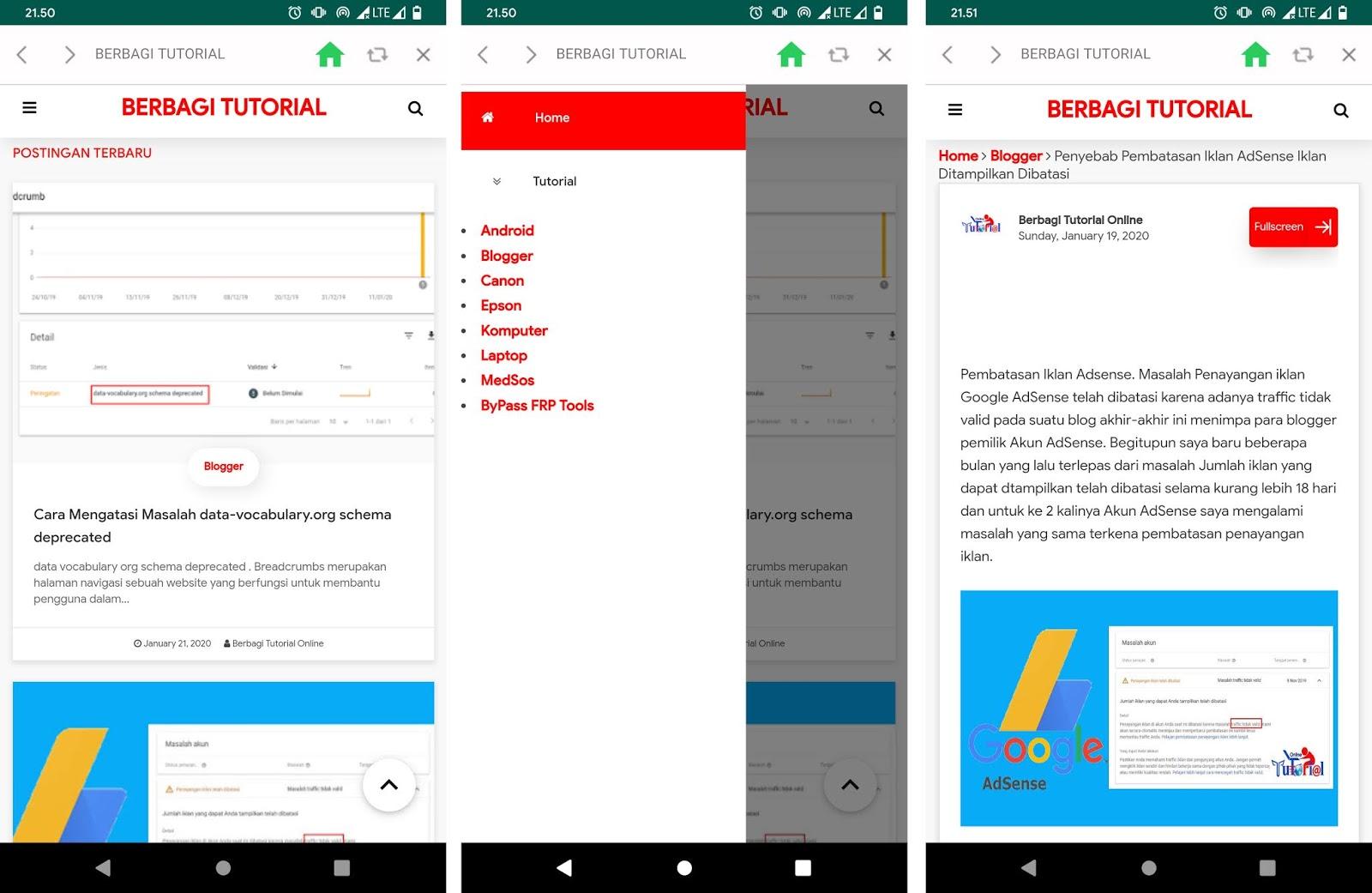 Aplikasi Android Blog Berbagi Tutorial Online