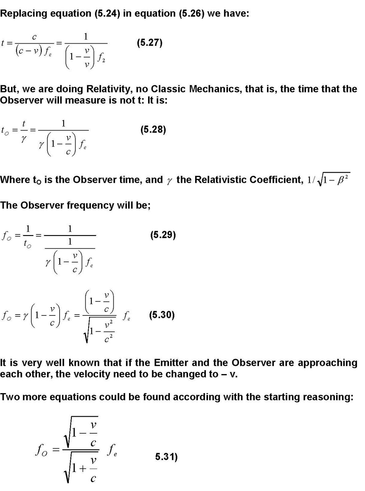 Autodynamics The Doppler Effect