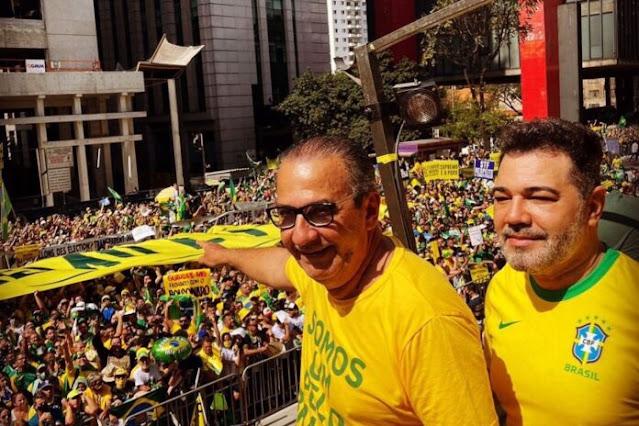 Governo de SP multa Bolsonaro, Malafaia, Feliciano e outros por não usarem máscaras na Paulista