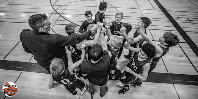 """Header image of the article: """"How To Motivate Youth Basketball Players"""". A list of the best tips and strategies on how to motivate youth basketball players"""