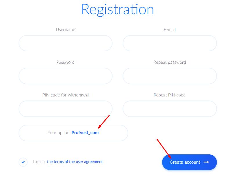 Регистрация в Bitify 2