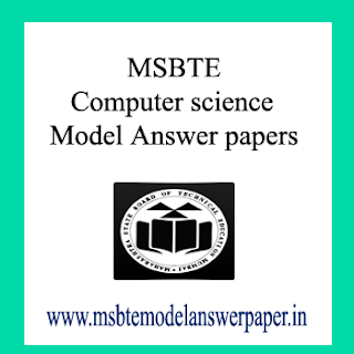 MSBTE COMPUTER SCIENCE (SEM - 2) MODEL ANSWER PAPERS