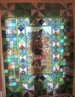 panel quilt pieced block borders