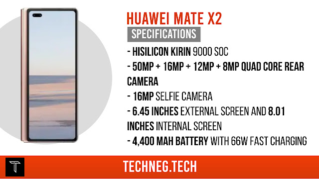 Huawei Mate X2 Rumoured Specifications