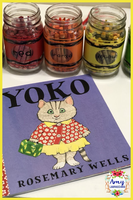Click here to find ideas for how character's react in stories.  Included are ideas and  an anchor chart for the very engaging book Yoko  by Rosemary Wells.  Get your back to school plans ready.   Perfect for all elementary classrooms and homeschool children.  {kindergarten, first, second, third, fourth, fifth, k, 1st, 2nd, 3rd, 4th, 5th}