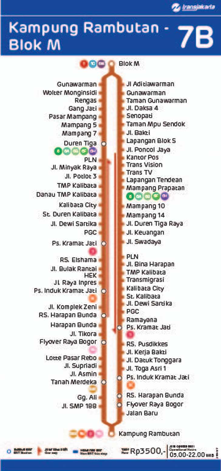 rute transjakarta kampung rambutan blok m