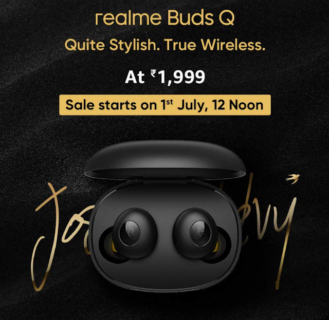 Realme Buds Q 1 जुलाई को होगी लांच।