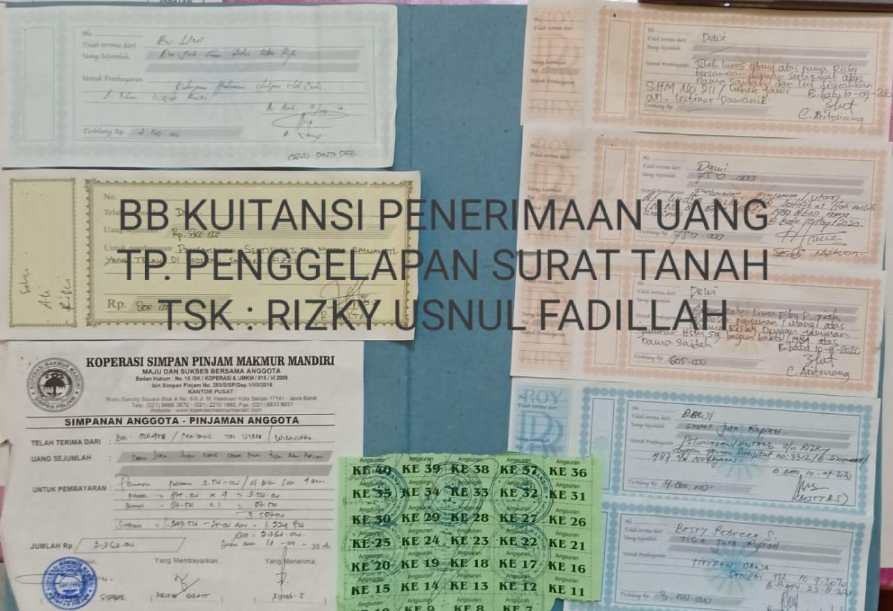 Gelapkan Sertifikat Tanah Klien Pegawai Kantor Notaris Di Bagan Sinembah Ditangkap Polisi Suluh Sumatera