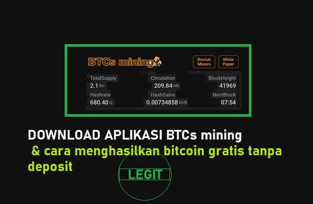 Download Aplikasi BTCs Mining Mumpung Masih Legit Gratis tanpa Deposit Sepeserpun