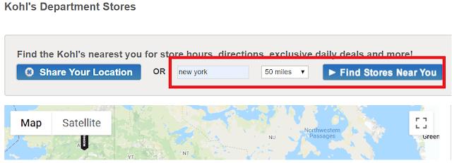 Kohls Locations near me