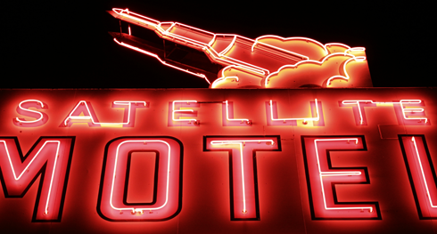 Satellite Motel Neon Sign Medicine Hat