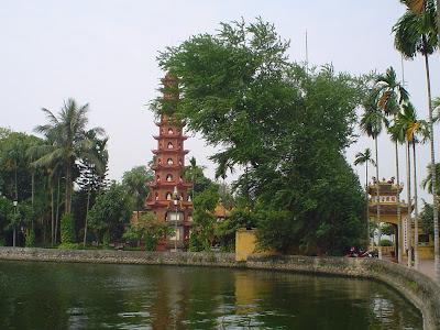 Pagoda a Hanoi, Vietnam