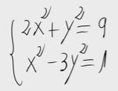 8.Sistema de ecuaciones de segundo grado (reducción) 2