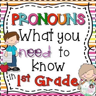 1st Grade Pronoun Activities