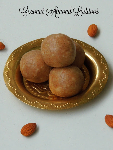 Almond Coconut Sweet Balls, Coconut Almond Laddoos