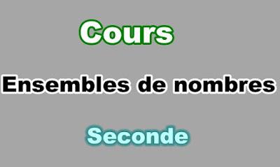 Cours Ensembles de nombres Seconde PDF