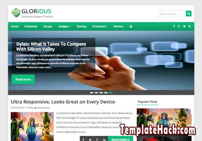 glorious blogger template