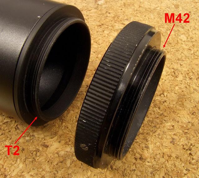 mocowanie obiektywu t2 i m42