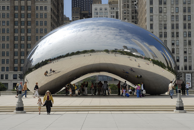 Millennium Park, Crown Fountain e Cloud Gate em Chicago