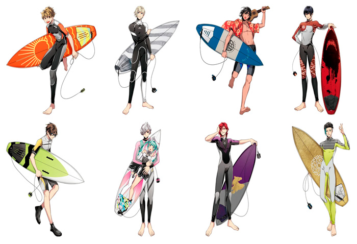 WAVE!! Surfing Yappe!! anime - personajes