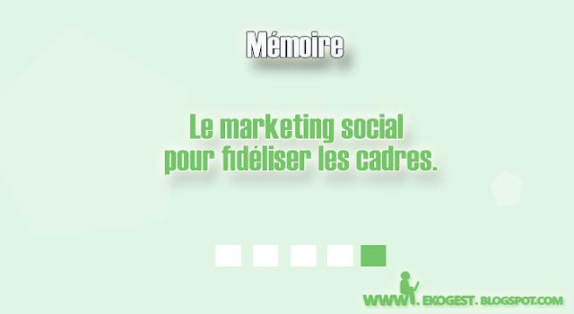Mémoire - Projet de fin d'étude rapport de stage  Le marketing social pour fidéliser les cadres PFE : 9