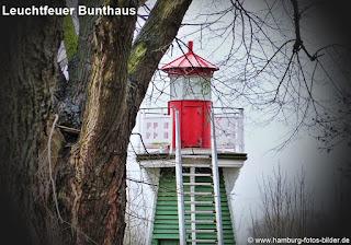 Leuchtfeuer Bunthaus an der Bunthäuser Spitze in Hamburg