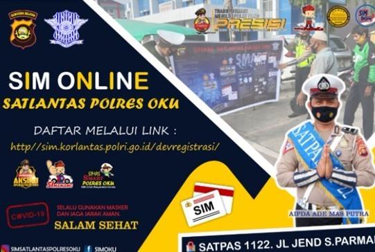 Polres OKU Gencar Sosialisasikan Sim Online Dan Smart SIM