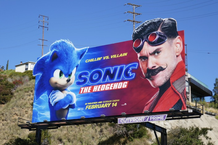 Sonic the Hedgehog movie billboard