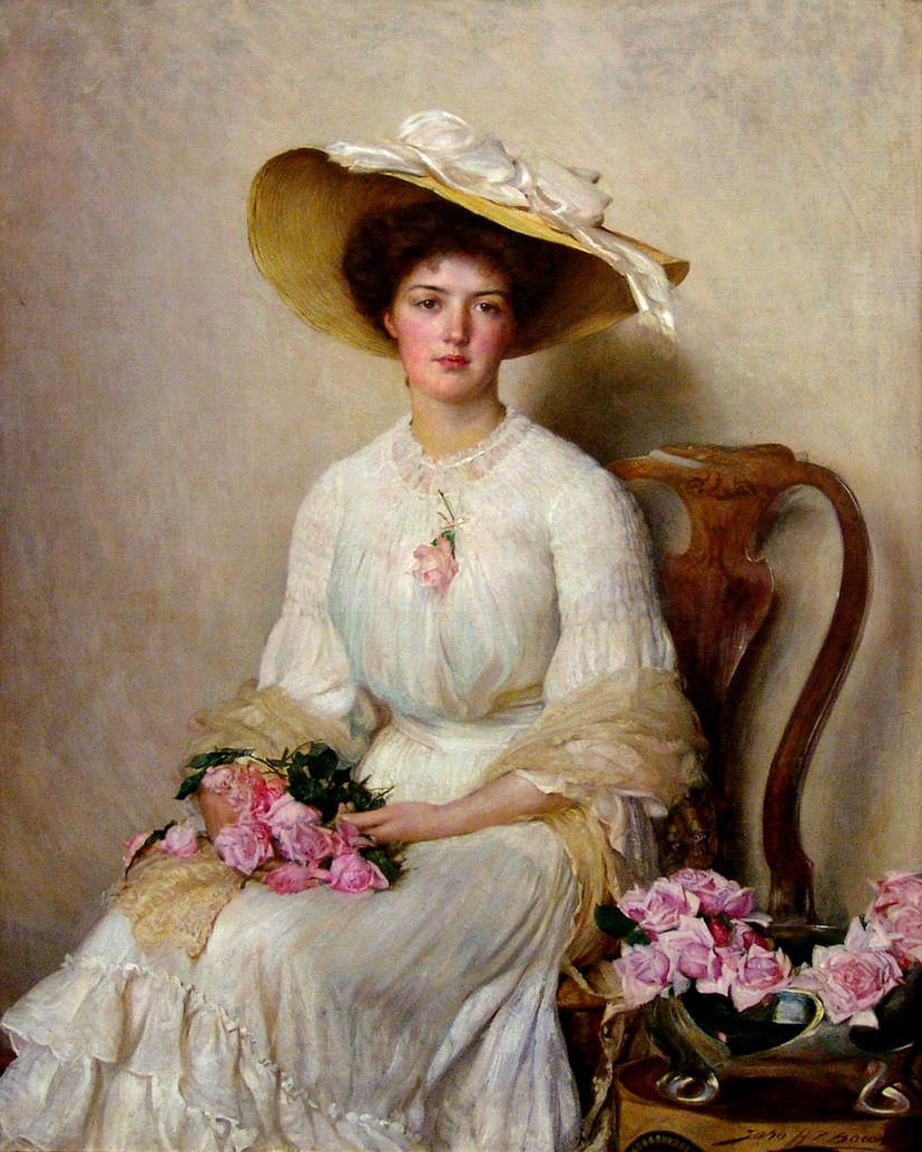 Victorian British Painting: John Henry Frederick BaconVictorian Woman Portrait
