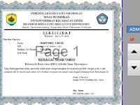 Aplikasi Excel cetak otomatis sertifikat Mengikuti kegiatan  KKG